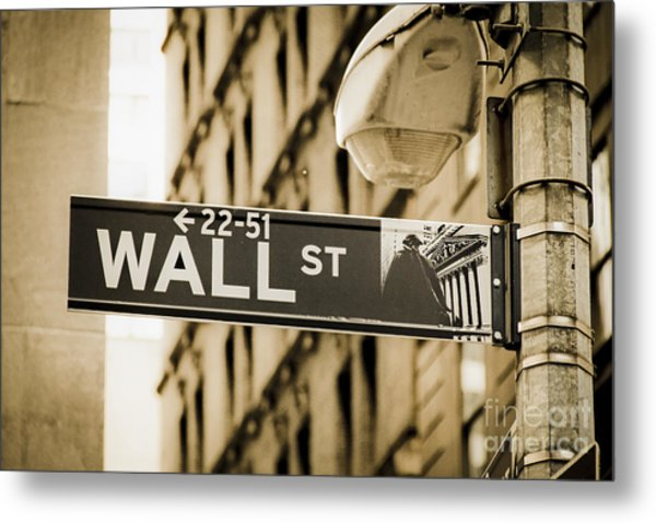 Metal Print featuring the photograph Wall Street by Juergen Held