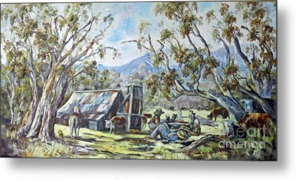 Wallace Hut, Australia's Alpine National Park. Metal Print