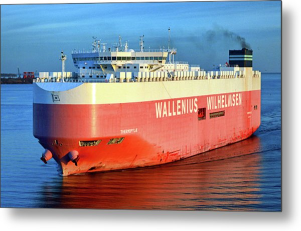 Metal Print featuring the photograph Wallenius Wilhelmsen Thermopylae 9702443 On The Patapsco River by Bill Swartwout Fine Art Photography