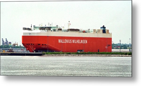 Metal Print featuring the photograph Wallenius Wilhelmsen Tombarra 9319753 At Curtis Bay by Bill Swartwout Fine Art Photography