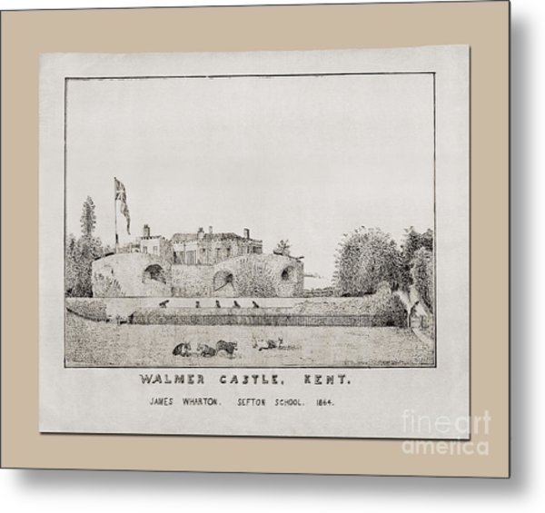 Walmer Castle Kent Metal Print