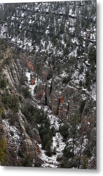 Walnut Canyon In Flagstaff In Winter 4 Metal Print