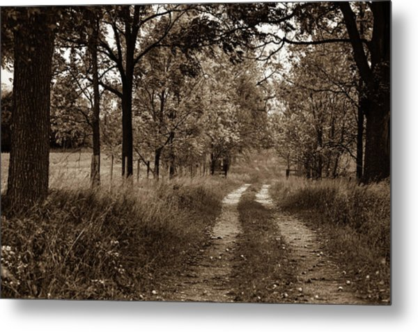 Walnut Lane Antiqued Metal Print