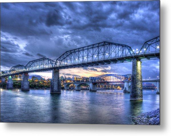 Walnut Street Pedestrian Bridge Chattanooga Tennessee Metal Print