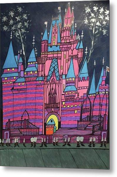 Walt Disney World Cinderrela Castle Metal Print
