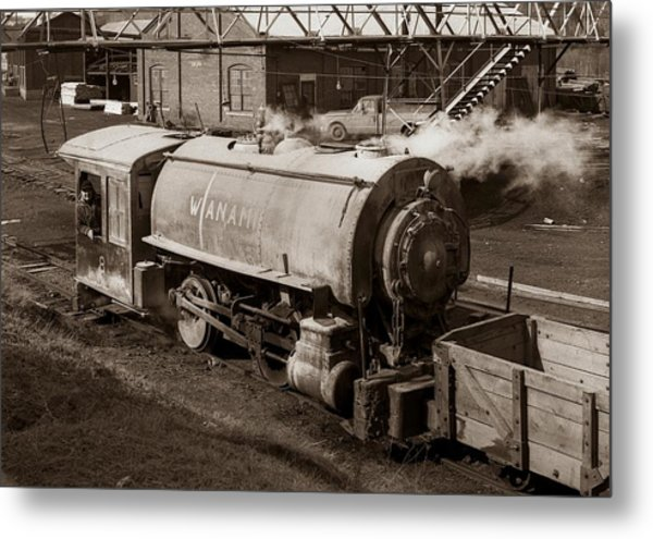 Wanamie Pennsylvania Coal Mine Locomotive Lokey 1969... Metal Print