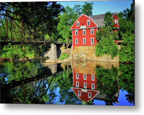 War Eagle Mill And Bridge - Arkansas Metal Print