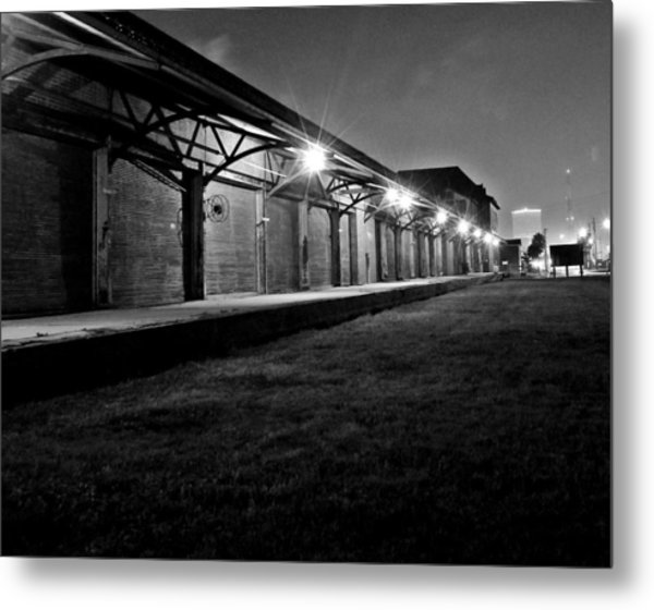 Warehouse At Night Metal Print