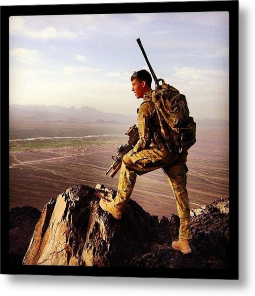 Warfighter In Afghanistan Metal Print