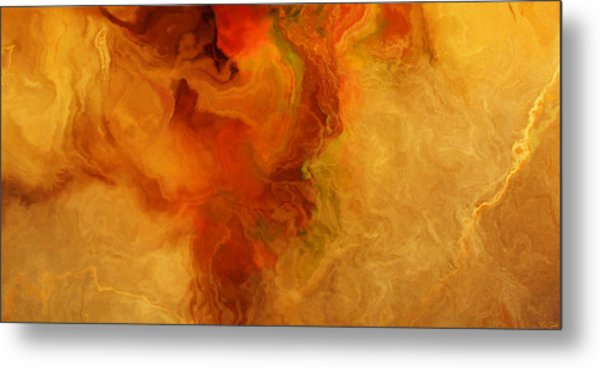 Warm Embrace - Abstract Art Metal Print