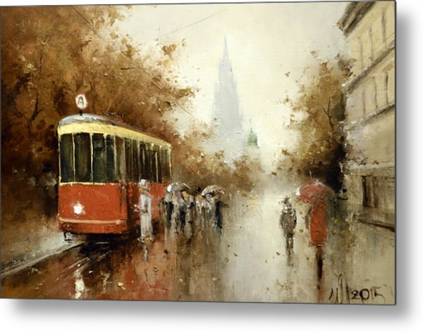 Warm Moscow Autumn Of 1953 Metal Print