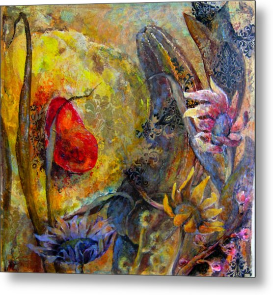 Warm  Of  The Heart Metal Print by Una Lune