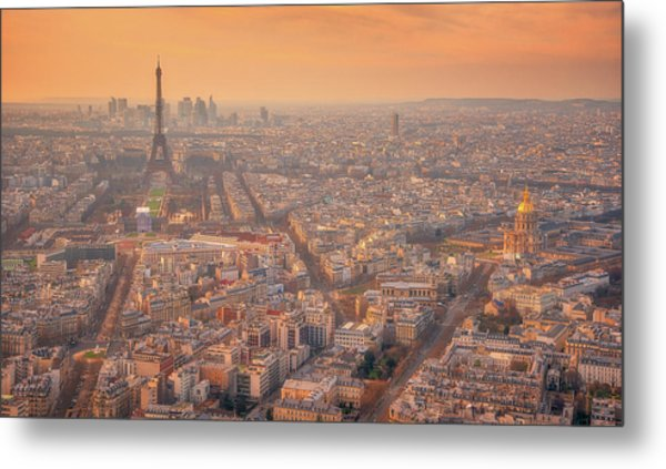 Metal Print featuring the photograph Warm Paris Sunset by Darren White