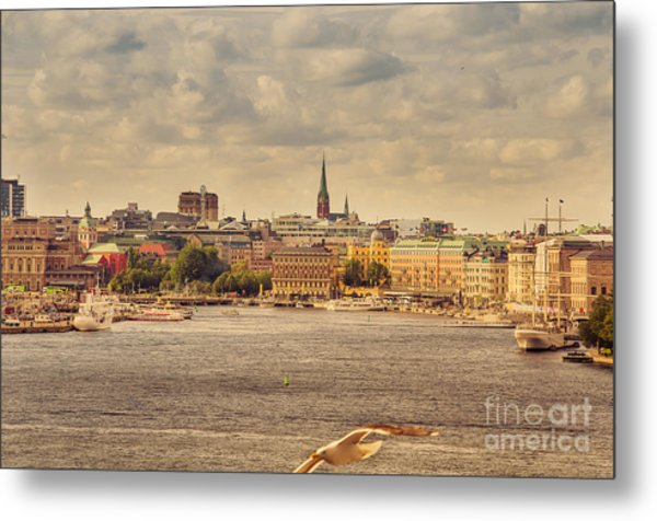 Warm Stockholm View Metal Print