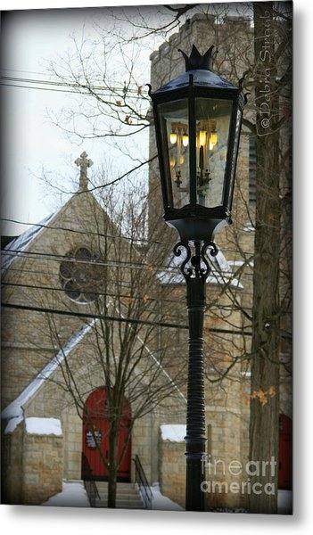 Warm Winter's Light Metal Print by Debra Straub