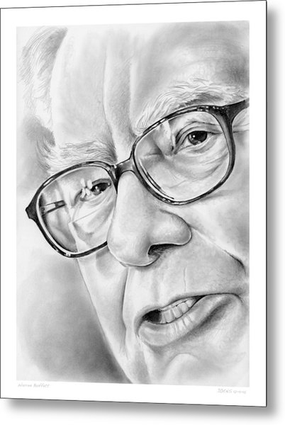 Warren Buffett Metal Print