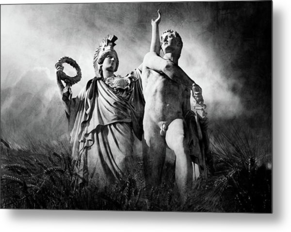 Metal Print featuring the photograph Warrior by Marc Huebner