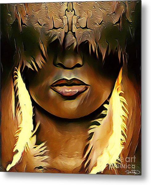 Warrior Queen Shaayna Metal Print