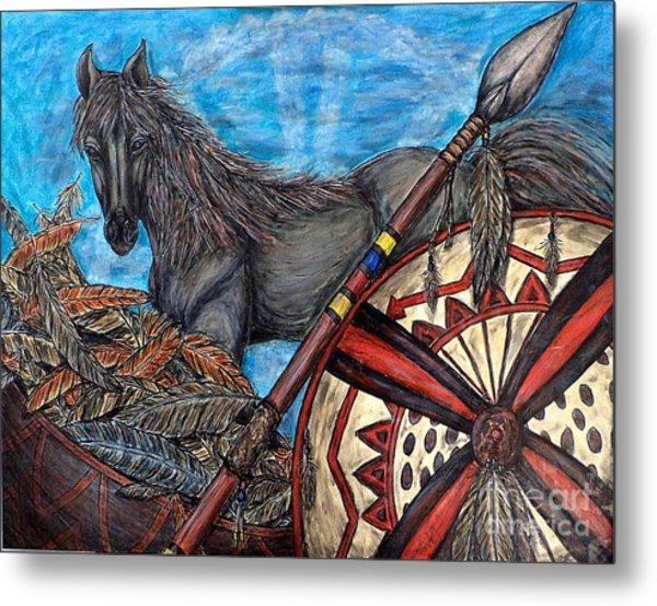 Warrior Spirit Metal Print