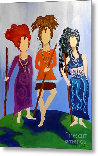 Warrior Woman Sisterhood Metal Print