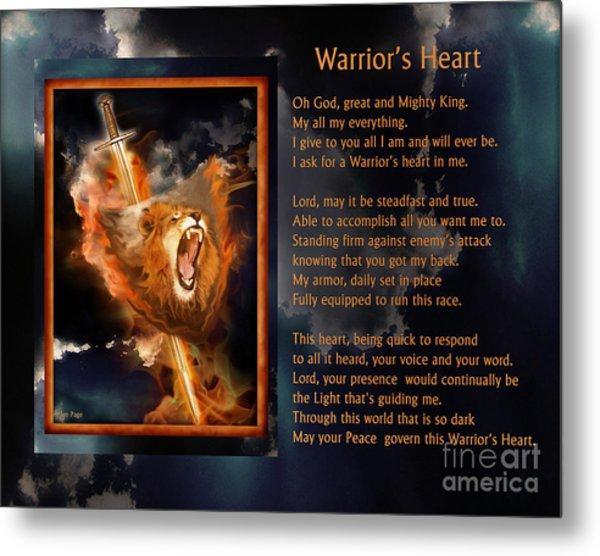 Warrior's Heart Poetry Metal Print