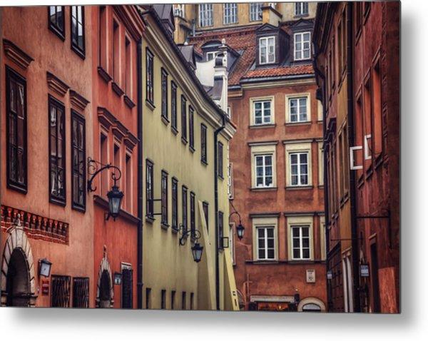 Warsaw Old Town Charm Metal Print