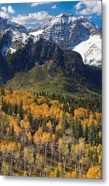 Wasatch Mountains Autumn Metal Print