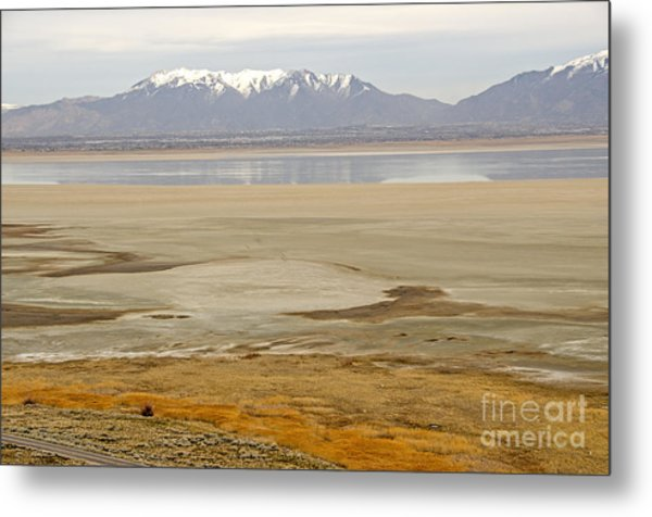 Wasatch Mountains From Antelope Island Metal Print