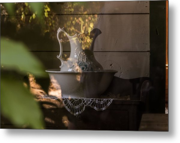 Wash Basin Metal Print