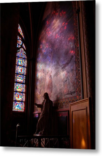 Washed In Rose Glass Metal Print by Edan Chapman