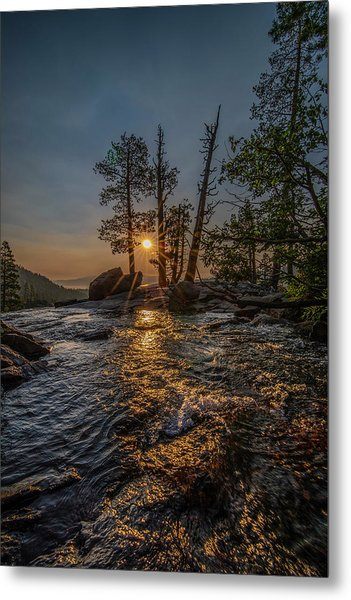 Washed With Golden Rays Metal Print