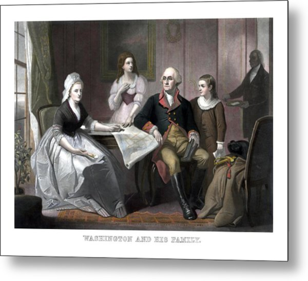 Washington And His Family Metal Print