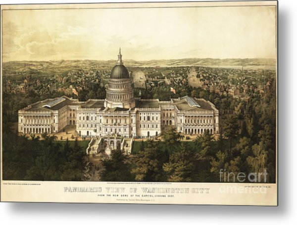 Washington City 1857 Metal Print