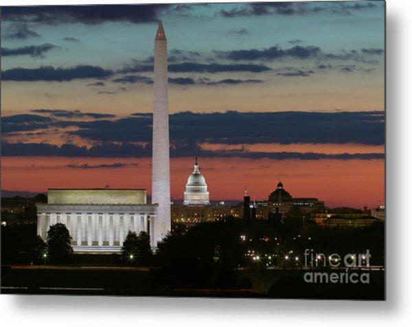 Washington Dc Landmarks At Sunrise I Metal Print