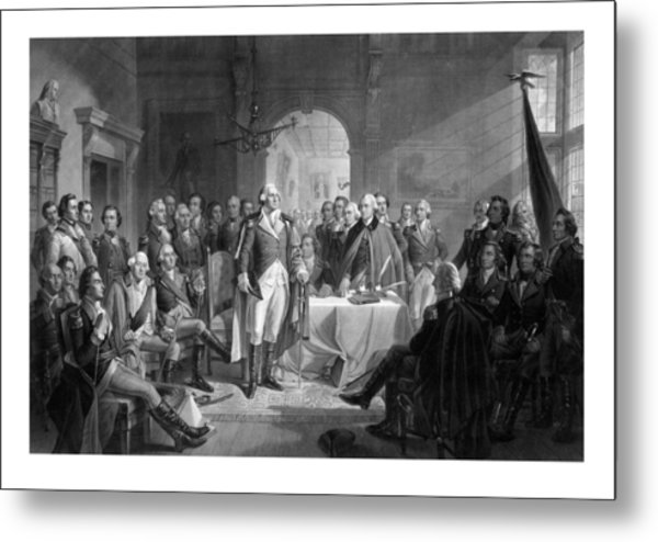 Washington Meeting His Generals Metal Print
