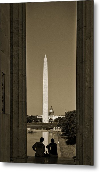 Washington Monument And Capitol #4 Metal Print