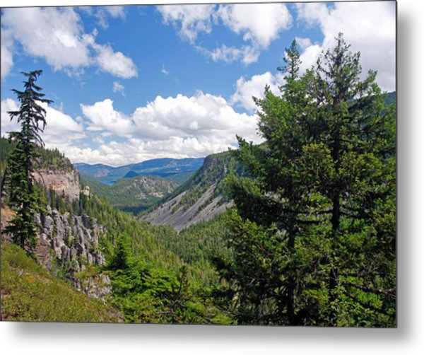 Washington State Vista On Us Hwy 12 - Nr 1 Metal Print by Stephen Bonrepos