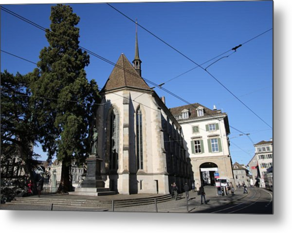 Photograph - Wasserkirche - Limmatquai, Zurich by Travel Pics