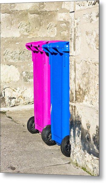 Waste Bins Metal Print