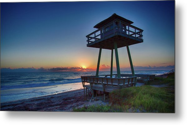 Watch Tower Sunrise 2 Metal Print