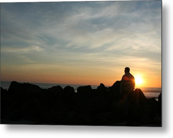 Watching Days End Metal Print by Randy Morehouse