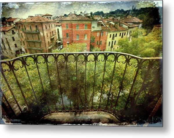 Watching From The Balcony Metal Print