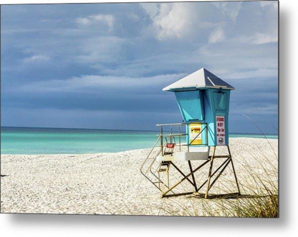 Lifeguard Tower Florida Gulf Coast Metal Print