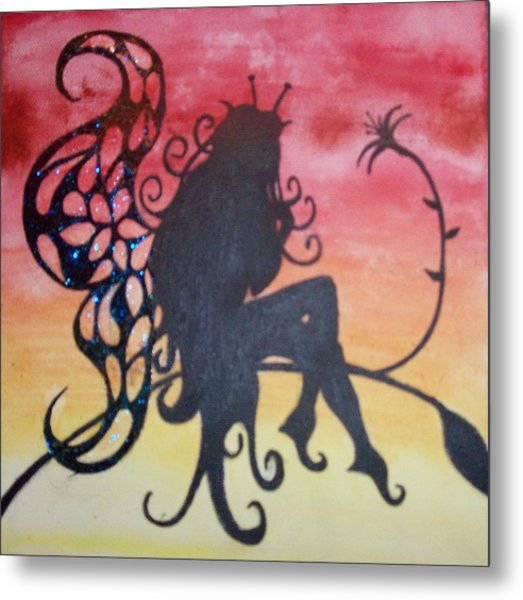 Watching The Sunset Metal Print by Amy Lauren Gettys