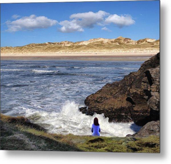 Watching The Waves At Fairy Bridges, Bundoran, Donegal - Ireland Metal Print
