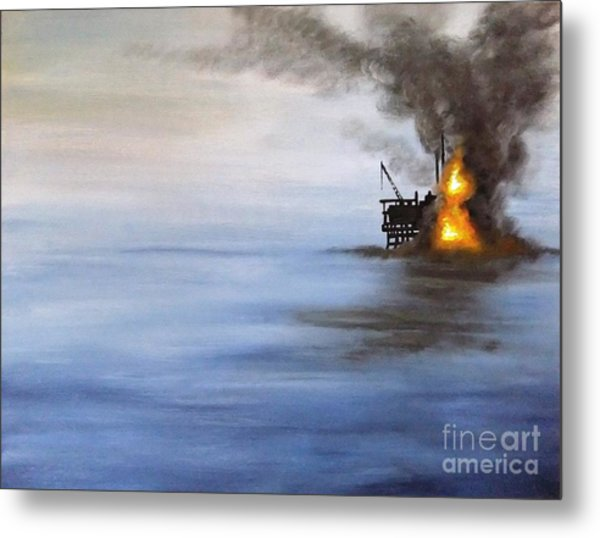 Water And Air Pollution Metal Print