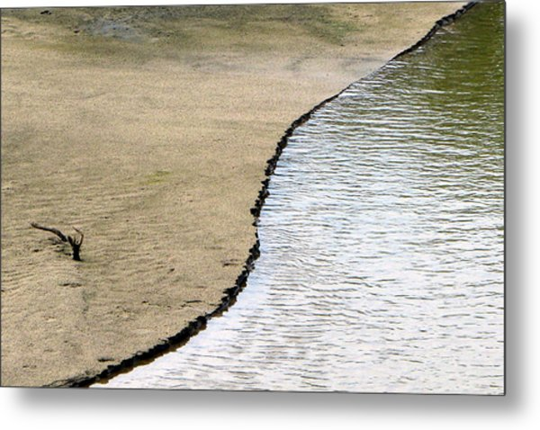 Water And Sand Metal Print by Dottie Dees