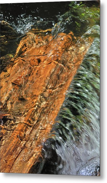 Water And Wood Metal Print