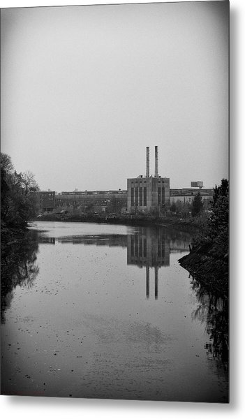 Water Factory Metal Print