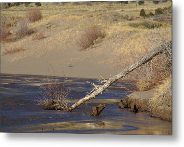 Water Flow In The Great Sand Dunes Metal Print